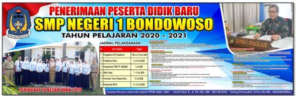 Pengumuman Hasil Seleksi PPDB SMP Negeri Kab Bondowoso 2020 2021